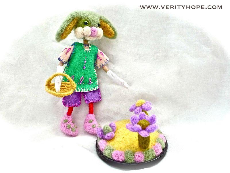 Felt bunny rabbit etsy