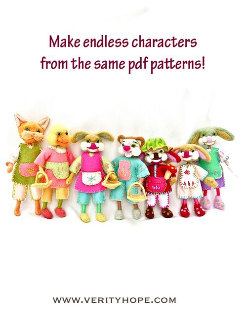 Needle felt dolls on etsy