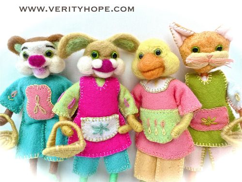 Needle felted dolls