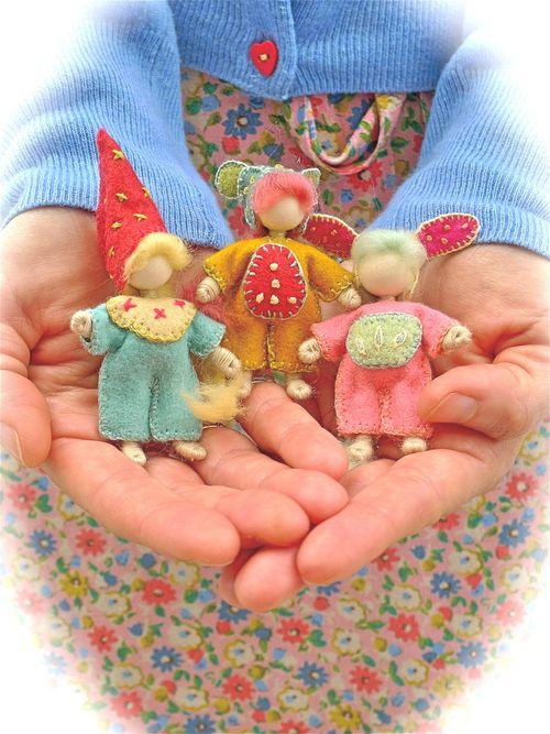 Wee folk felt dolls